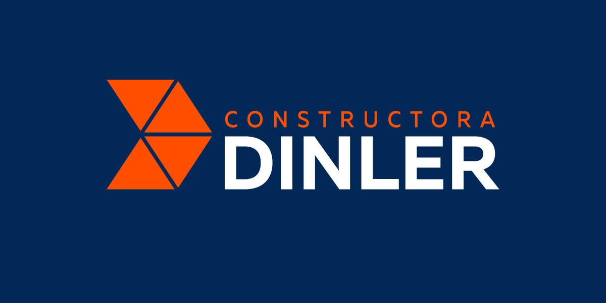 Diseño de Logotipo Constructora Dinler fondo azul