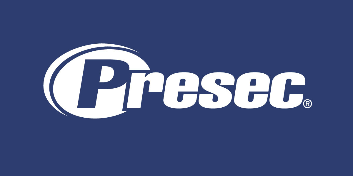 diseño de logotipo presec fondo azul