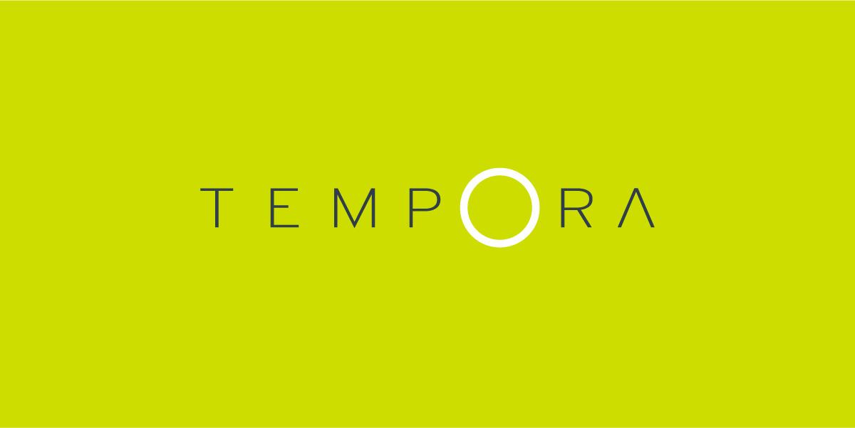 diseño de logo tempora horizontal