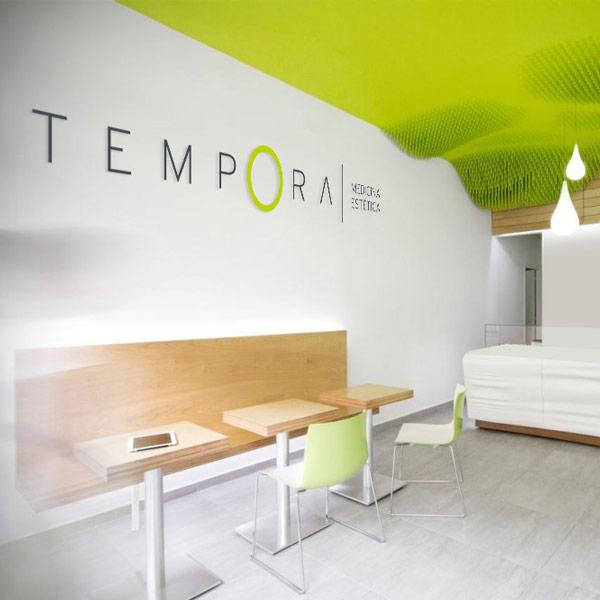diseño de logo tempora muro claro